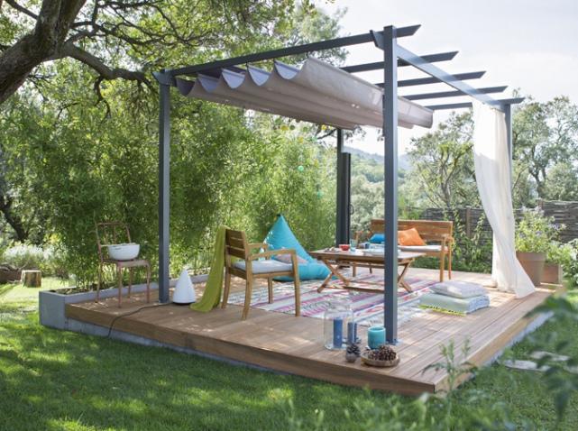 pergole wolno stoj ce s markiza. Black Bedroom Furniture Sets. Home Design Ideas